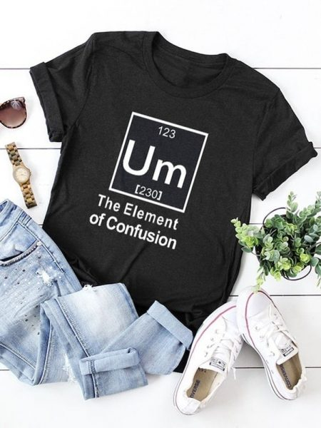 Shein plus slogan print cuffed tee 7 Comfortable and Casual Spring Outfit Ideas You Must Try