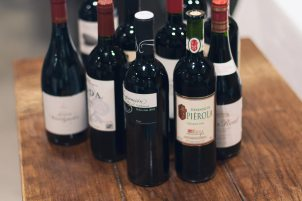Botellas vino tinto