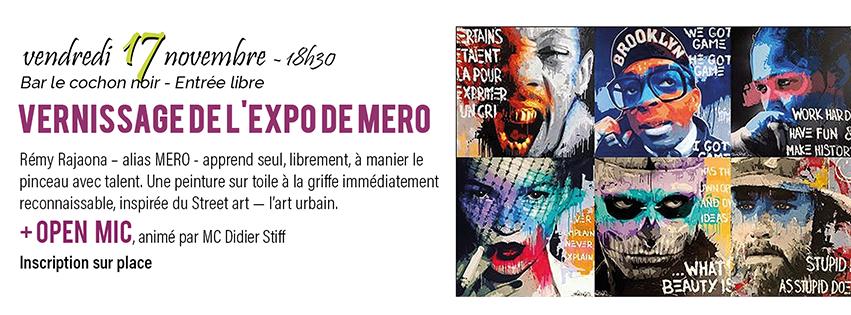 Vernissage de l'expo de Mero + Open Mic - Cochon Noir Carcassonne