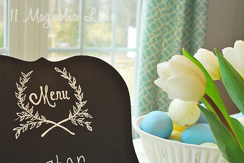 close up menu tulips