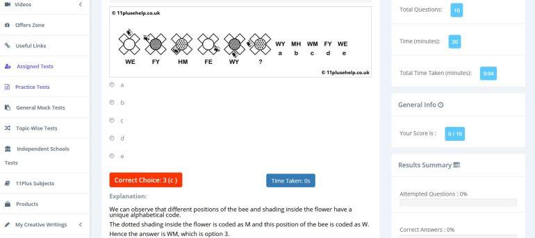 11 plus nvr codes