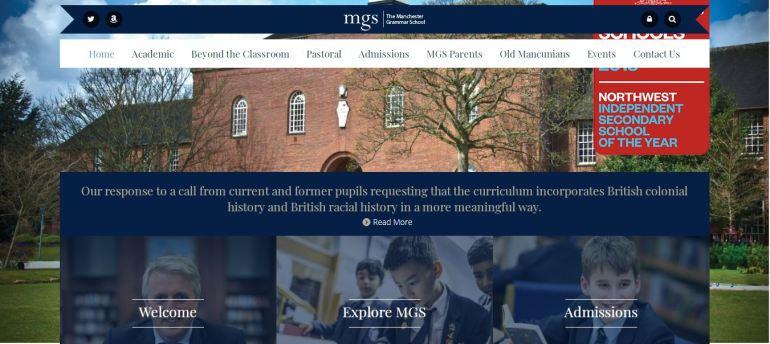 Manchester Grammar School Home page