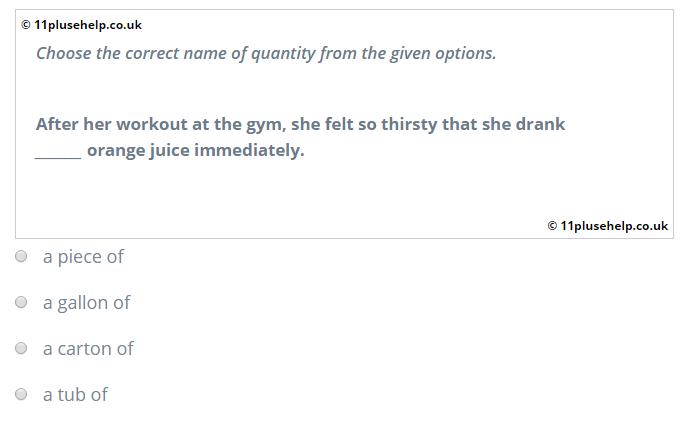 verbal reasoning sample question 2