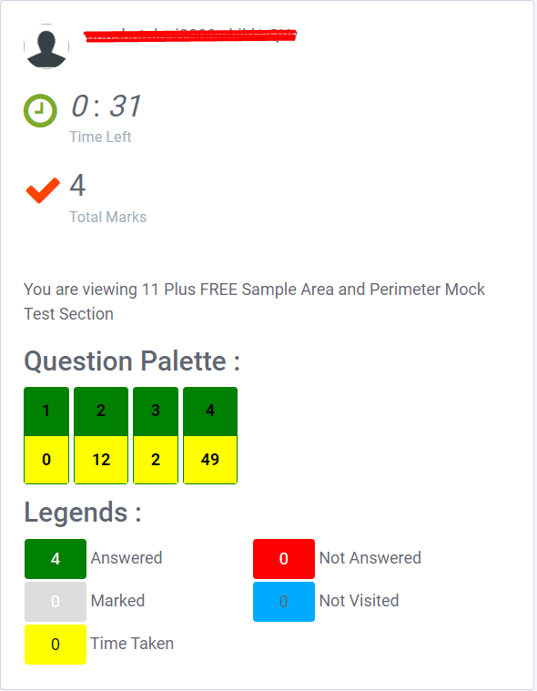 Mock test features