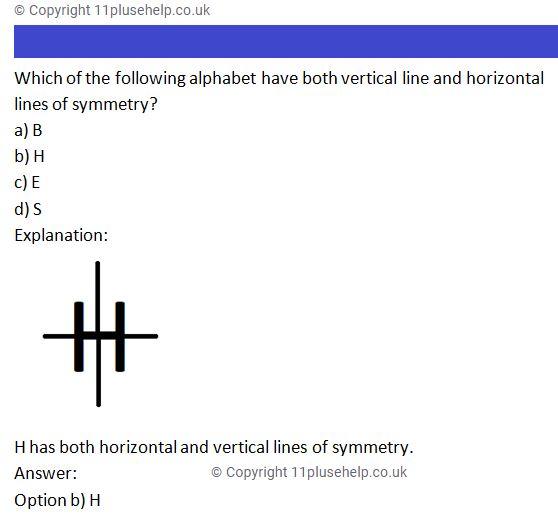 11 Plus Symmetry