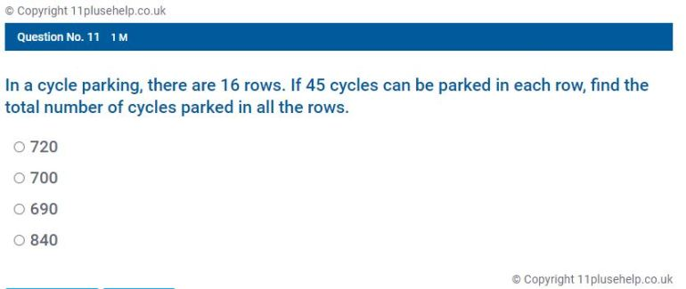 Year 4 Multiplication Example