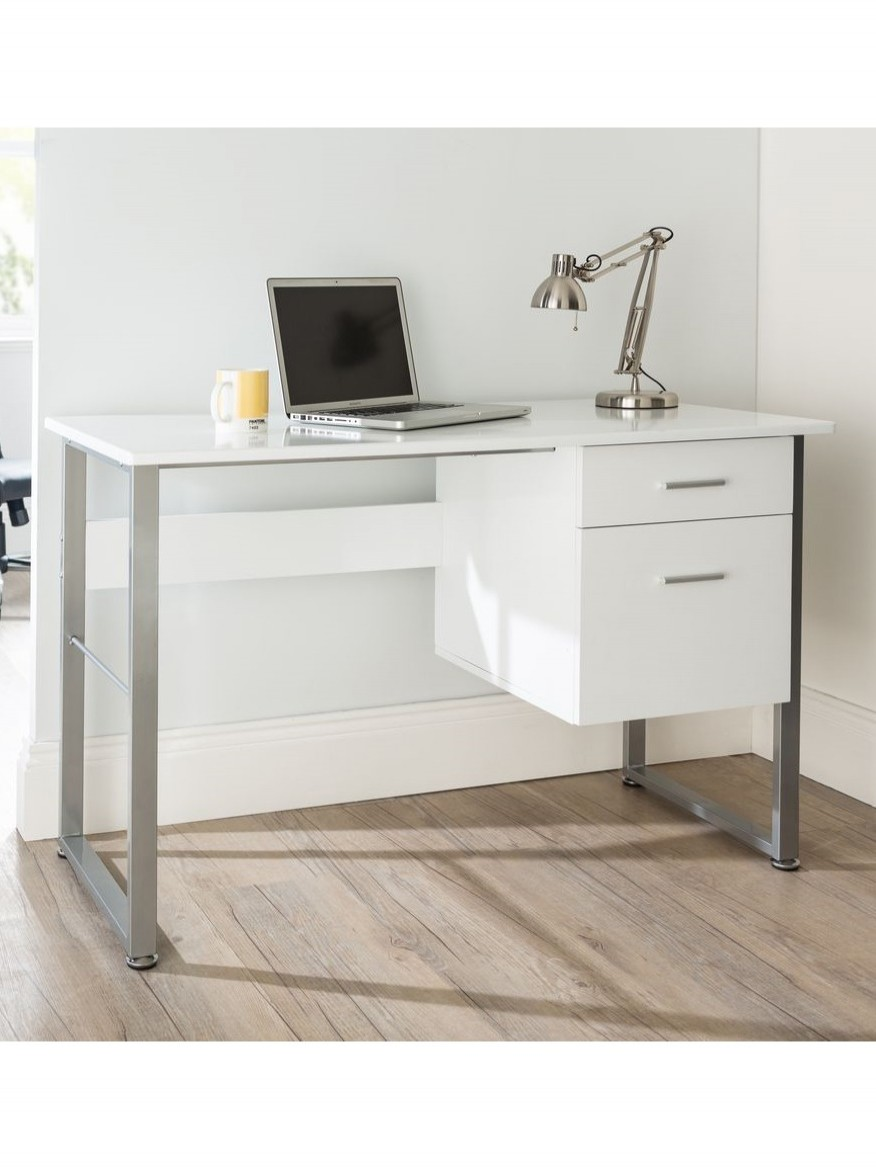 Home Office Desk White Cabrini Aw22226 Wh By Alphason 121 Office Furniture