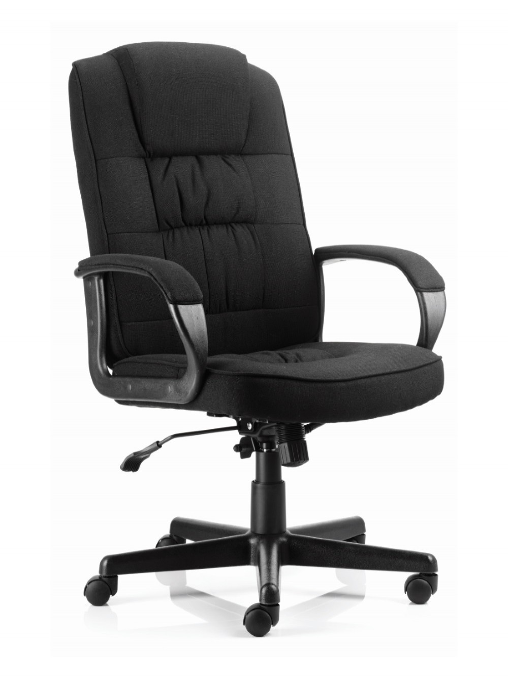 Dynamic Moore Executive Fabric Chair In Black 121 Office Furniture