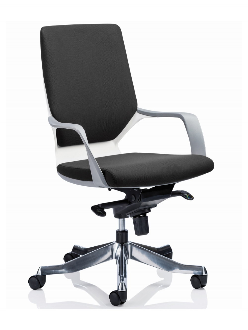 Dynamic Xenon Black Fabric Executive Chair With White Shell 121 Office Furniture