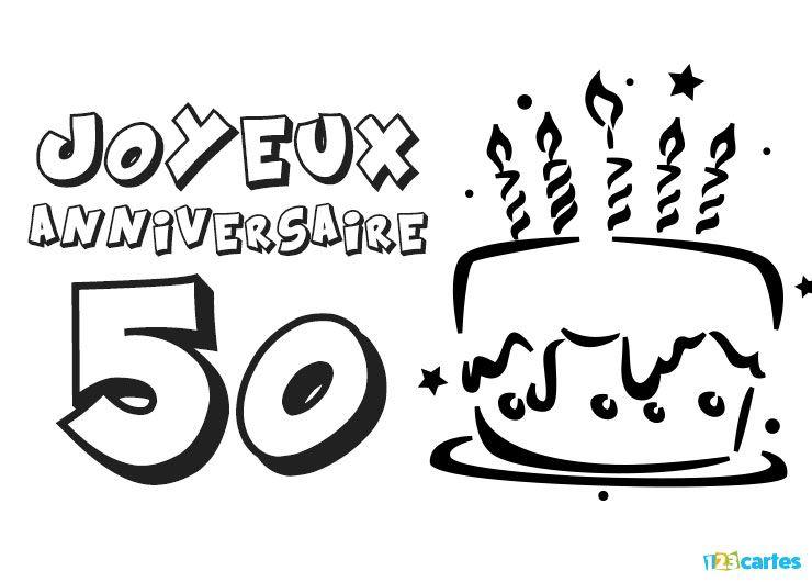 23 Cartes Joyeux Anniversaire Age 50 Ans Gratuits 123 Cartes
