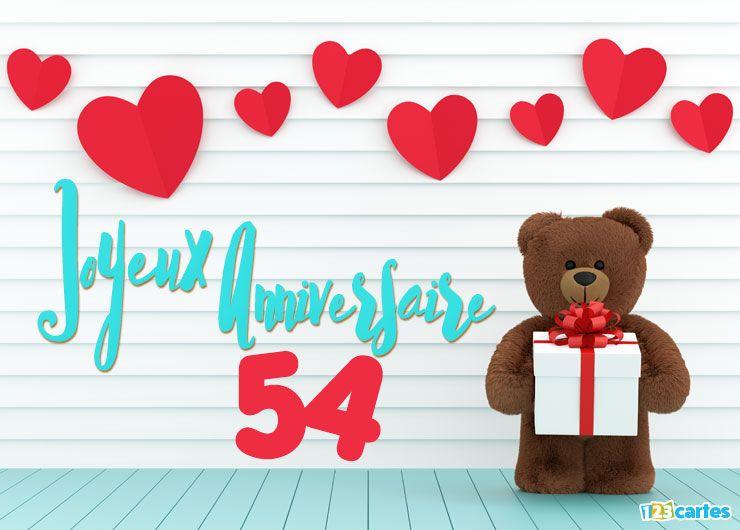 16 cartes joyeux anniversaire ge 54 ans gratuits 123 cartes. Black Bedroom Furniture Sets. Home Design Ideas