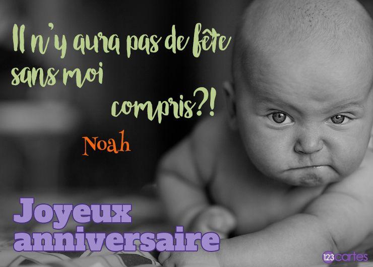 10 Cartes Anniversaire Avec Le Prénom Noah 123cartes