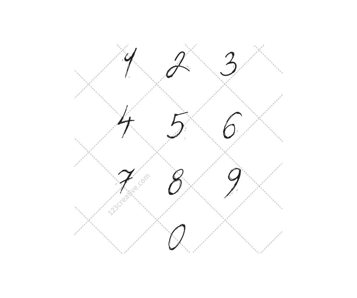Cursive Number Fonts