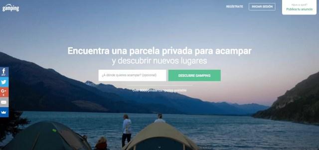 Alquiler de parcelas privadas para acampar - Ganar dinero con tu casa