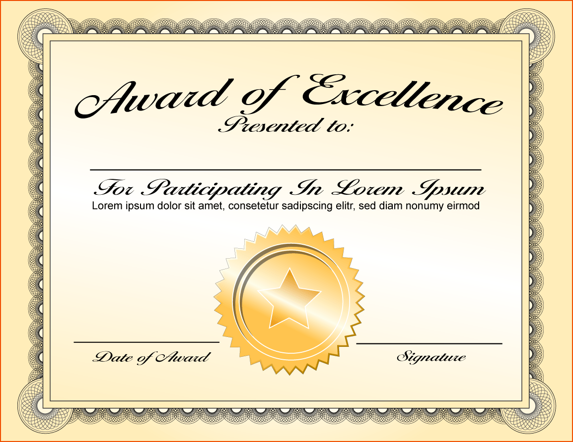 png-certificates-award-repin-image-certificate-award-template-on In Award Of Excellence Certificate Template