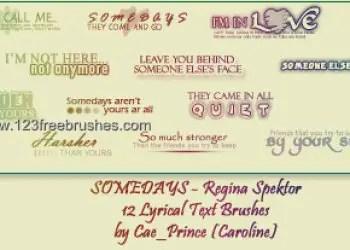 Somedays – Regina Spektor Lyrics