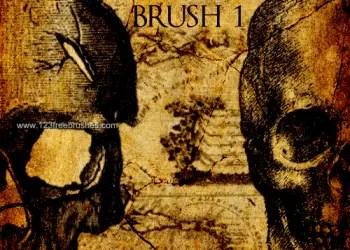 Old Grunge Skull