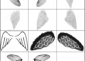 Free Photoshop Wings Brushes Download