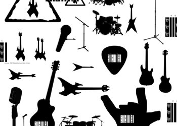 Rock Guitar – Drums – Microphone