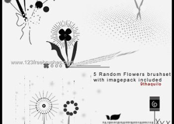 Flower Brushes High Resolution