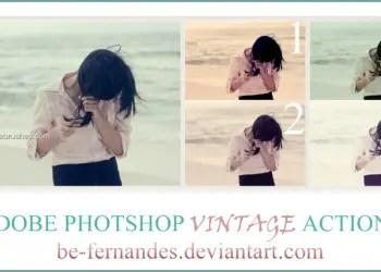 Vintage Effect Photoshop Action