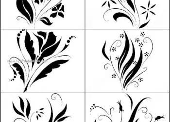 Set of Flower Brushes