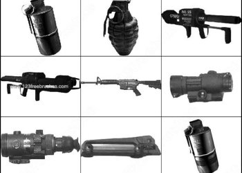 Weapons Pack – Photoshop Brushes Binoculars – guns