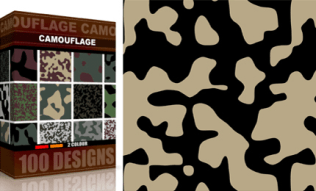 Vector Seamless Camouflage Pattern 2 Color