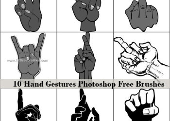 Hands Gestures Free Photoshop Brushes