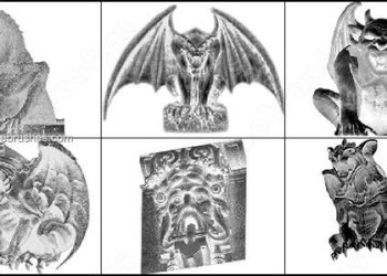 Gothic Gargoyles Brushes for Photoshop 7