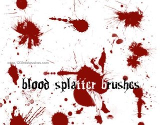 Blood Splatter Free photoshop brushes
