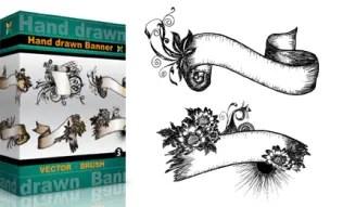 Hand Drawn Banners Set.1 | Vol : 3