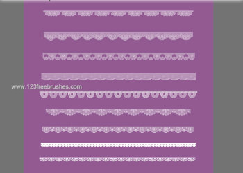 Cute Pixel Lace Borders