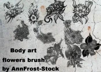Body Art Tattoo Flowers