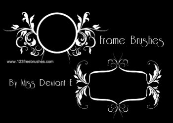 Circle Floral Text Frames
