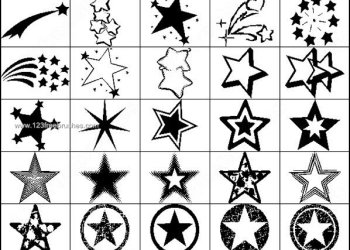 Free Star Shape Photoshop Brushes
