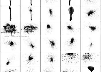 Ink Spray Brushes Photoshop