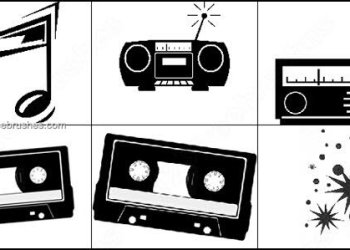 Cassette – Radio Photoshop Brushes