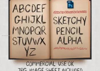 Sketchy Pencil Alphabet