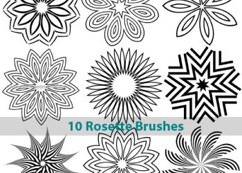 Rosette Brushes Photoshop