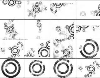 Grunge Circles Brushes for Photoshop