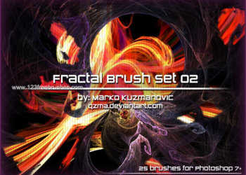 Abstract Glow Brushes