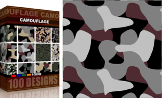 Vector Seamless Camouflage Pattern 4 Color