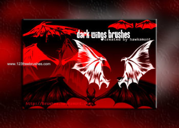 Dark Wings Brushes Photoshop