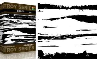 Vol.3 : Grunge Destroyed Edges Vectors