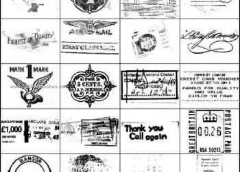 Old Stamp Photoshop Brushes
