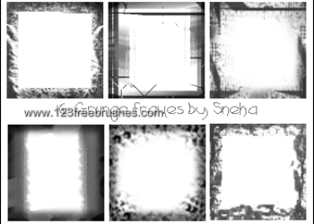 Grunge Frames Set 6