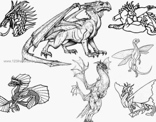 Dragon Photoshop Free Brushes