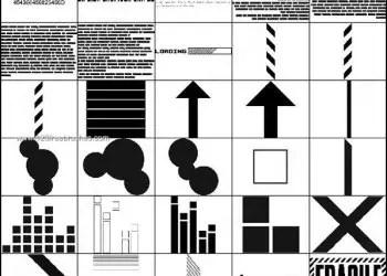 Barcode – Arrows – Circle Shapes Brushes