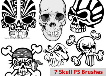 Free Skull Photoshop Brush Pack